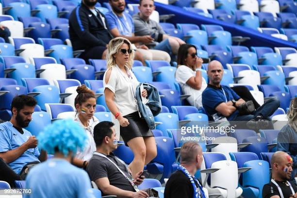 Erika Choperena wife of Antoine Griezmann during 2018 FIFA World Cup Quarter Final match between France and Uruguay at Nizhniy Novgorod Stadium on...