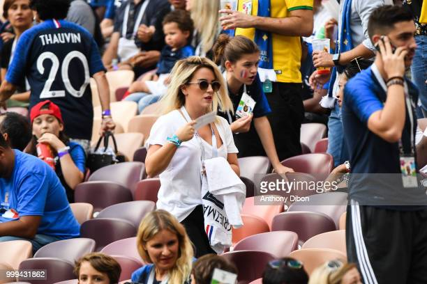 Erika Choperena wife of Antoine Griezmann during the World Cup Final match between France and Croatia at Luzhniki Stadium on July 15 2018 in Moscow...