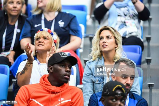 Erika Choperena wife of Antoine Griezmann of France during 2018 FIFA World Cup Quarter Final match between France and Uruguay at Nizhniy Novgorod...