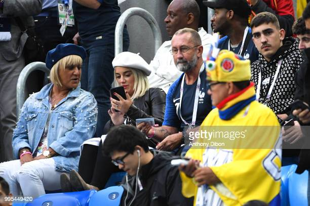 Erika Choperena wife of Antoine Griezmann of France during the Semi Final FIFA World Cup match between France and Belgium at Krestovsky Stadium on...