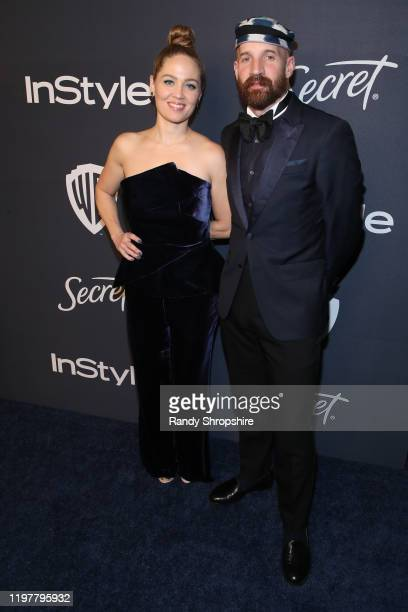Erika Christensen and Cole Maness attend The 2020 InStyle And Warner Bros 77th Annual Golden Globe Awards PostParty at The Beverly Hilton Hotel on...