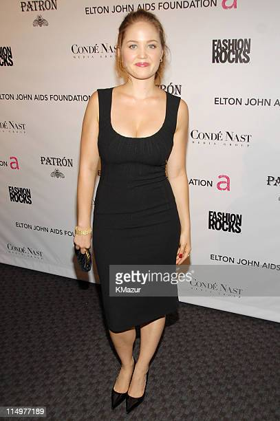 Erika Christensen at Conde Nast Media Group presents Elton John and the debut of his new album 'The Captain The Kid' at the official Fashion Rocks'...