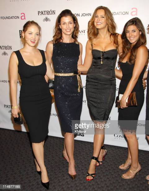 Erika Christensen Bridget Moynahan Petra Nemcova and Jamie LynnSigler at Conde Nast Media Group presents Elton John and the debut of his new album...