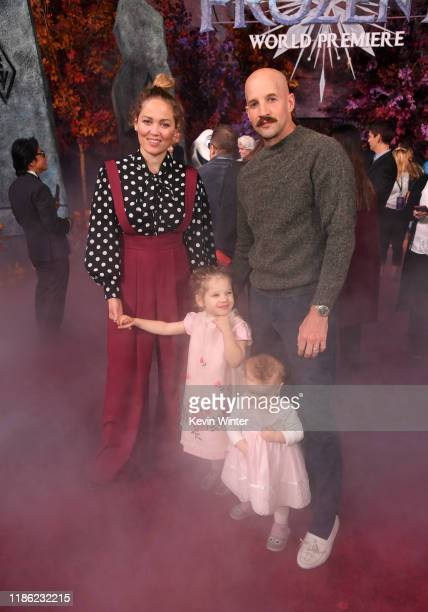 Erika Christensen Cole Maness and family attend the premiere of Disney's Frozen 2 at Dolby Theatre on November 07 2019 in Hollywood California