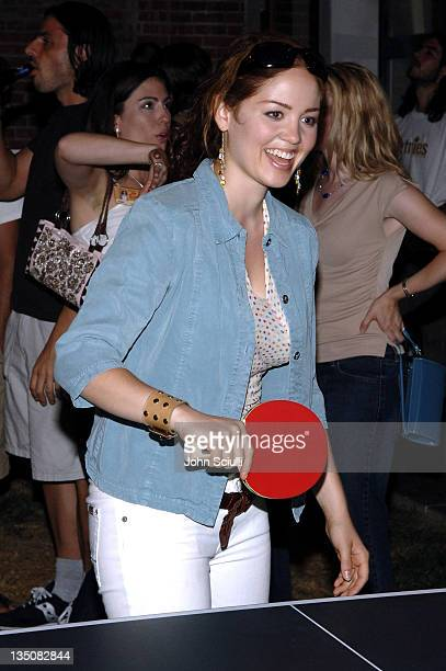 Erika Christensen during Etnies and Stereo Present 'Martinis and PingPong' Hosted by Jason Lee and Chris Pastras July 22 2005 at Marbimon in Los...