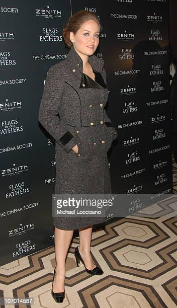 Erika Christensen during 'Flags Of Our Fathers' Special New York Screening Presented By The Cinema Society and Zenith Watches at Tribeca Grand Hotel...