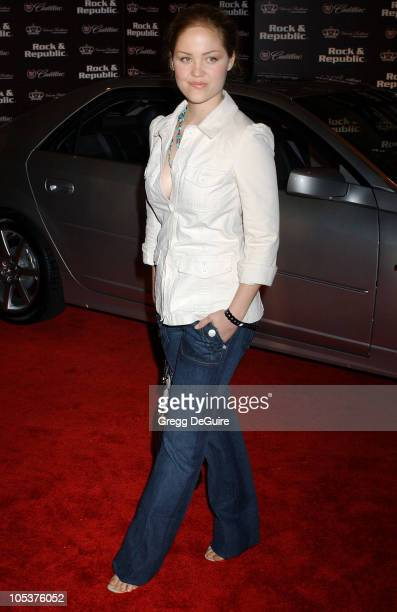 Erika Christensen during MercedesBenz Spring 2005 LA Fashion Week at Smashbox Studios Cadillac Presents Rock Republic Spring 2005 Fashion Show...