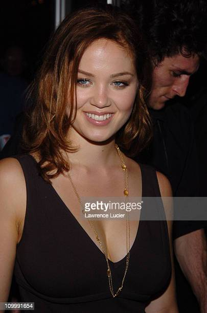 Erika Christensen during Olympus Fashion Week Spring 2006 Narciso Rodriguez Departures at Exit in New York City New York United States