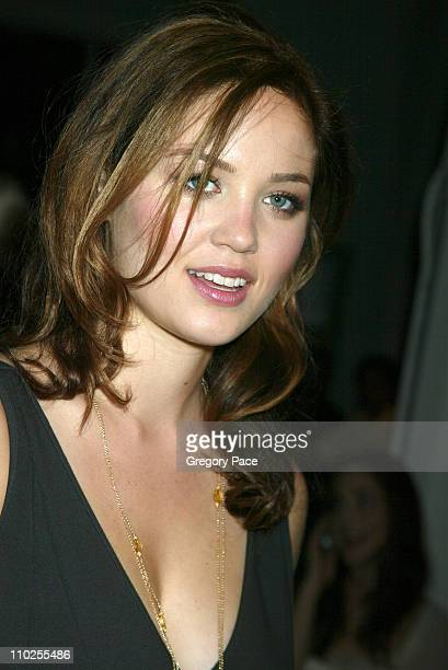 Erika Christensen during Olympus Fashion Week Spring 2006 Narciso Rodriguez Front Row at Exit Art in New York City New York United States