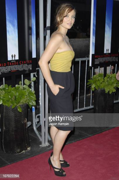 Erika Christensen during 'World Trade Center' New York Premiere Arrivals at The Ziegfeld Theatre in New York New York United States