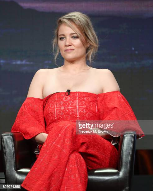 Erika Christensen of 'Ten Days in the Valley' speaks onstage during the Disney/ABC Television Group portion of the 2017 Summer Television Critics...
