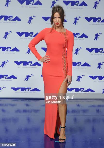 Erika Costell arrives at the 2017 MTV Video Music Awards at The Forum on August 27 2017 in Inglewood California