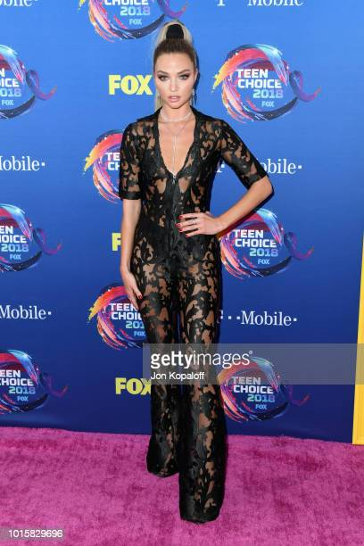 Erika Costell attends FOX's Teen Choice Awards at The Forum on August 12 2018 in Inglewood California