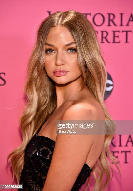 Erika Costell attends the Victoria's Secret Fashion Show at Pier 94 on November 8 2018 in New York City
