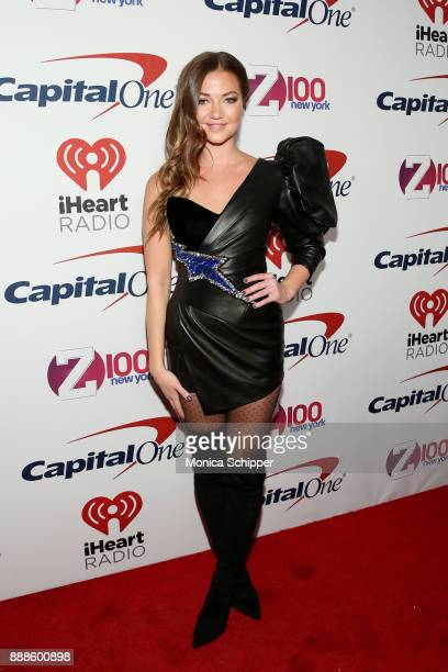 Erika Costell attends the Z100's Jingle Ball 2017 press room on December 8 2017 in New York City