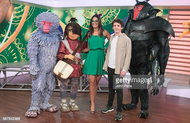 Erika Csiszer and actor Art Parkinson are seen on the set Of Telemundo's Un Nuevo Dia at Telemundo Studio to promote Kubo And The Two Stringson...