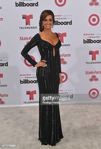 Erika Csiszer arrives at 2015 Billboard Latin Music Awards presented bu State Farm on Telemundo at Bank United Center on April 30, 2015 in Miami,...