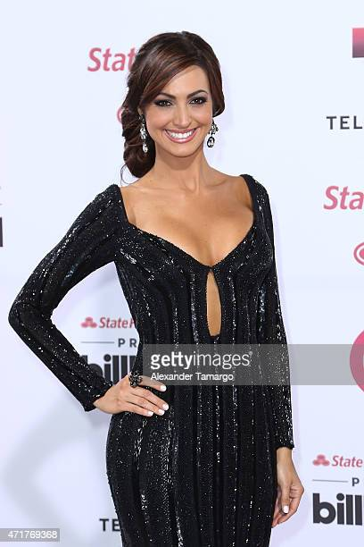 Erika Csiszer arrives at 2015 Billboard Latin Music Awards presented by State Farm on Telemundo at Bank United Center on April 30 2015 in Miami...