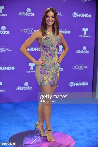 Erika Csiszer arrives at Telemundo's 2017 'Premios Tu Mundo' at American Airlines Arena on August 24 2017 in Miami Florida