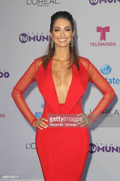 Erika Csiszer arrives at Telemundo's Premios Tu Mundo Your World Awards at American Airlines Arena on August 25 2016 in Miami Florida