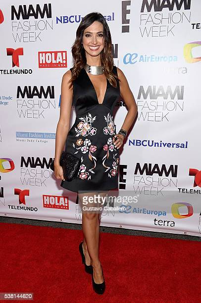 Erika Csiszer attends Antonio Banderas Miami Fashion Week Soiree at Vizcaya Museum Gardens on June 4 2016 in Miami Florida