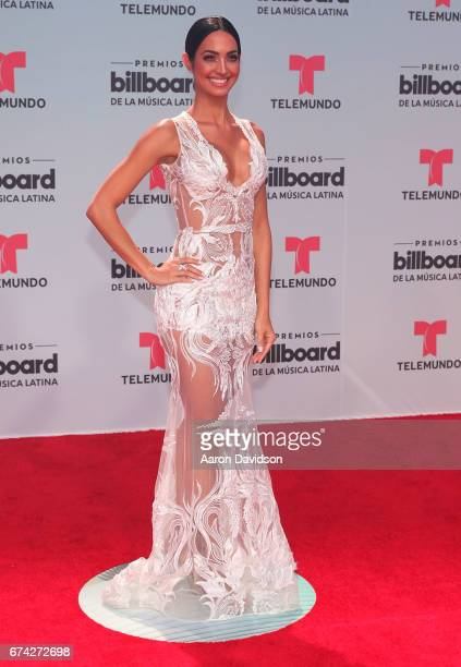 Erika Csiszer attends Billboard Latin Music Awards Arrivals at Watsco Center on April 27 2017 in Coral Gables Florida