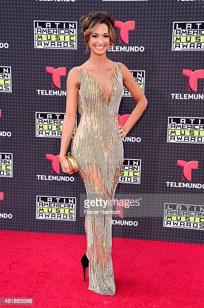 Erika Csiszer attends Telemundo's Latin American Music Awards at the Dolby Theatre on October 8 2015 in Hollywood California