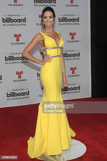 Erika Csiszer attends the Billboard Latin Music Awards at Bank United Center on April 28 2016 in Miami Florida