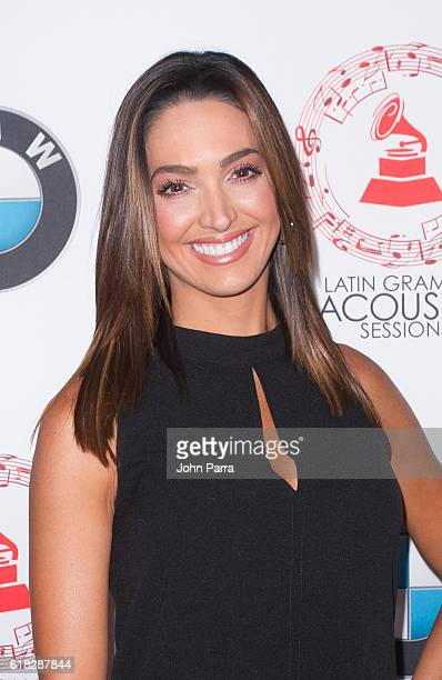 Erika Csiszer attends the Latin GRAMMY Acoustic Sessions Miami on October 25 2016 in Miami Florida