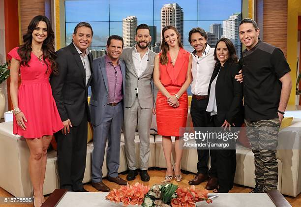 Erika Csiszer Daniel Sarcos Diego Schoening Francisco Caceras Jennifer Garner Eugenio Derbez Patricia Riggen and Chef James are seen on the set of...