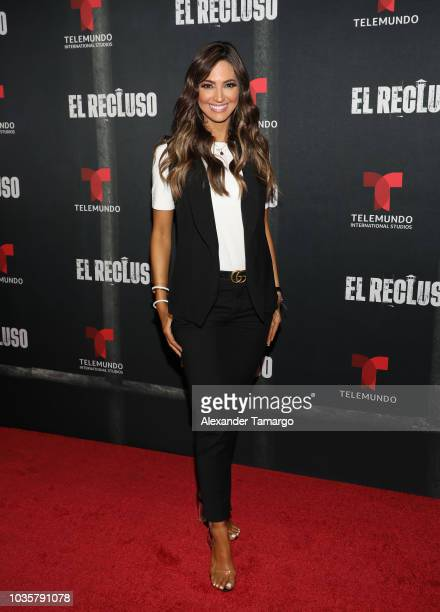 Erika Csiszer is seen at the El Recluso private screening at Telemundo Center on September 18 2018 in Miami Florida