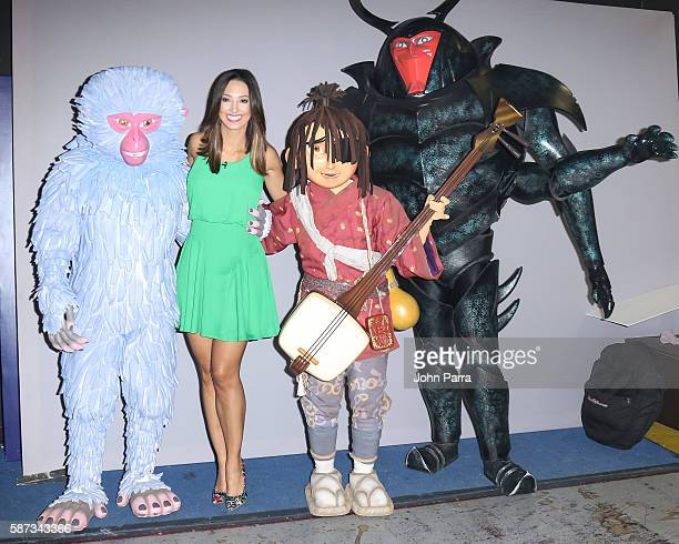 Erika Csiszer is seen on the set Of Telemundo's Un Nuevo Dia at Telemundo Studio to promote Kubo And The Two Stringson August 8 2016 in Miami Florida