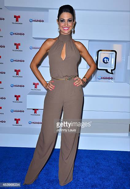 Erika Csiszer poses backstage at Telemundo's Premios Tu Mundo Awards 2014 at American Airlines Arena on August 21 2014 in Miami Florida