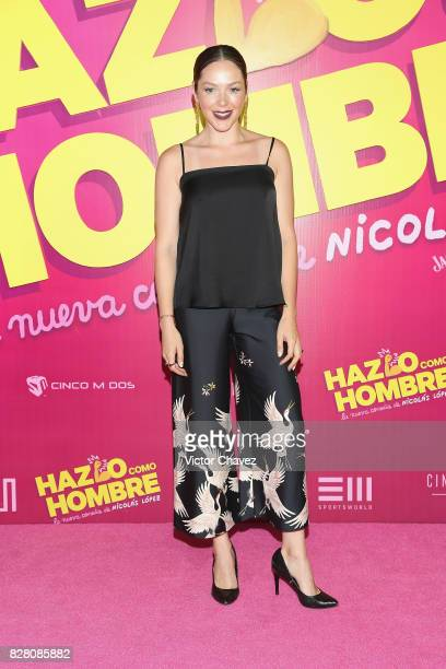 Erika de la Rosa attends the 'Hazlo Como Hombre' Mexico City premiere at Cinepolis Oasis Coyoacan on August 8 2017 in Mexico City Mexico