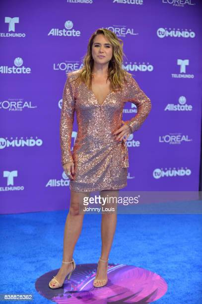 Erika De La Vega arrives at Telemundo's 2017 'Premios Tu Mundo' at American Airlines Arena on August 24 2017 in Miami Florida