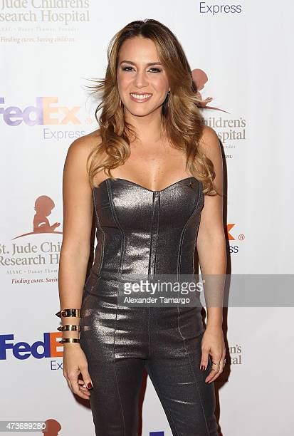Erika De La Vega arrives at the 13th Annual St Jude Angels and Stars Gala on May 16, 2015 in Miami, Florida.