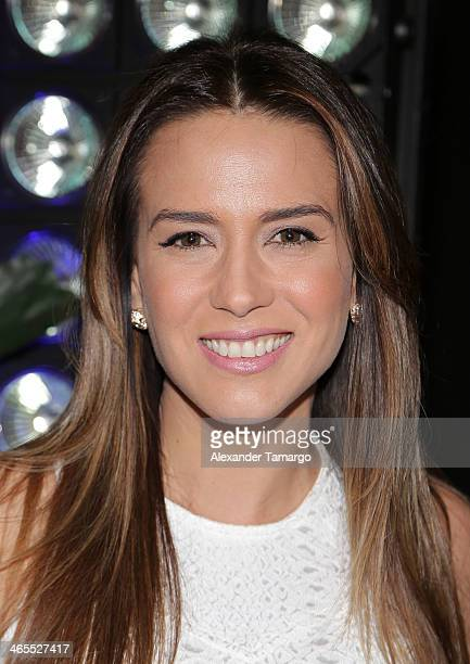 Erika de la Vega attends Telemundo Luncheon to launch Camelia Le Texana during NATPE at Eden Roc Hotel on January 27 2014 in Miami Beach Florida