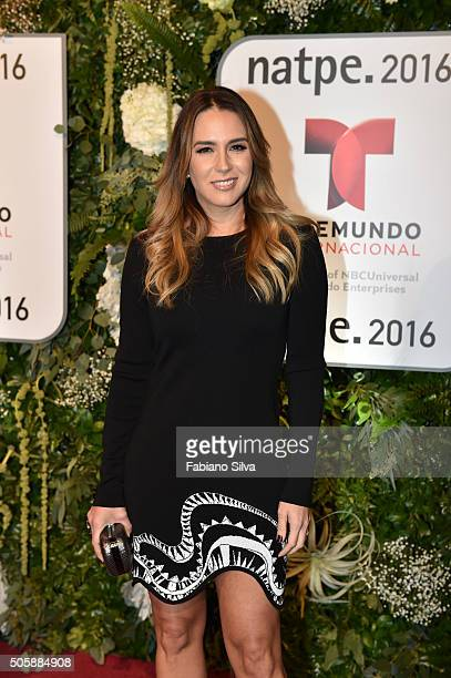 Erika de La Vega attends Telemundo NATPE party on January 19 2016 in Miami Beach Florida