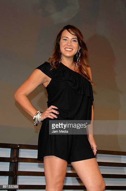 Erika de la Vega poses for a portrait during the press conference to present the 4th edition of the Latin American Idol through the screen of Sony...