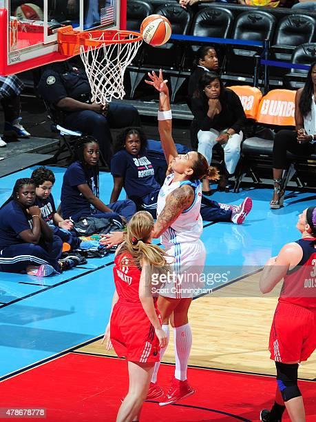 Erika de Souza of the Atlanta Dream shoots the ball against the Washington Mystics at the Philips Center on June 26 2015 in Atlanta GA NOTE TO USER...