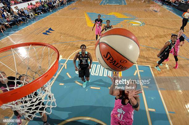 Erika de Souza of the Chicago Sky shoots the ball against the New York Liberty on August 4 2015 at the Allstate Arena in Rosemont Illinois NOTE TO...