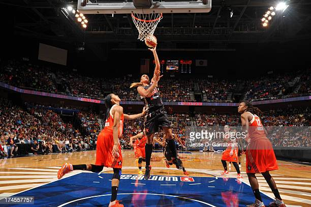 Erika de Souza of the Eastern Conference AllStars shoots during the 2013 Boost Mobile WNBA AllStar Game on July 27 2013 at Mohegan Sun Arena in...