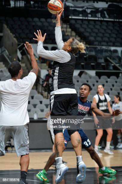 Erika de Souza of the San Antonio Stars drives to the basket during practice on May 10 at the ATT Center in San Antonio Texas NOTE TO USER User...