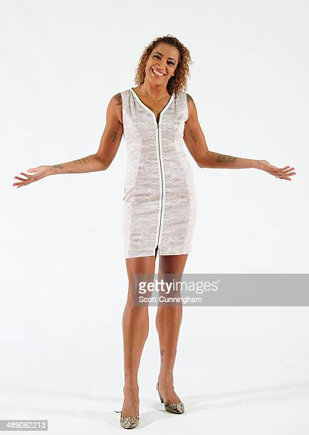 Erika deSouza of the Atlanta Dream poses for a photograph during WNBA Media Day at Philips Arena on May 9 2014 in Atlanta Georgia NOTE TO USER User...