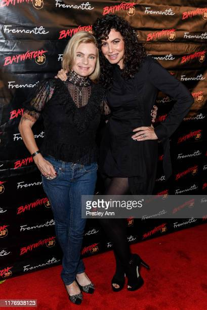 Erika Eleniak and Nancy Valen attend 30th Anniversary of Baywatch at the Viceroy Hotel on September 24 2019 in Santa Monica California