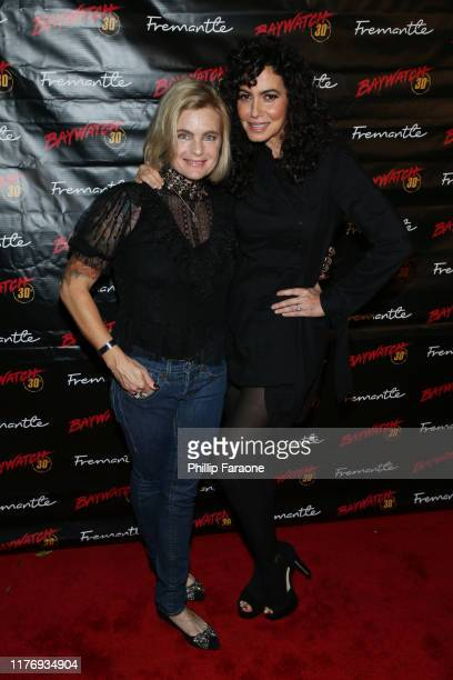 Erika Eleniak and Nancy Valen attend the 30th anniversary of Baywatch at the Viceroy Hotel on September 24 2019 in Santa Monica California