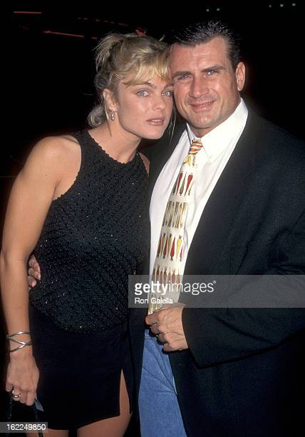 Erika Eleniak and Philip Goglia attend KickOff ABC Television New Primetime Schedule Party on September 10 1997 at the Armand Hammer Museum in...
