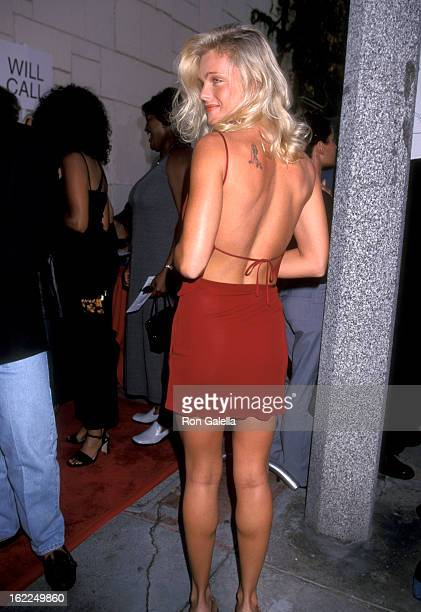 Erika Eleniak attends the premiere of Love Stinks on August 11 1999 at Mann Festival Theater in Westwood California