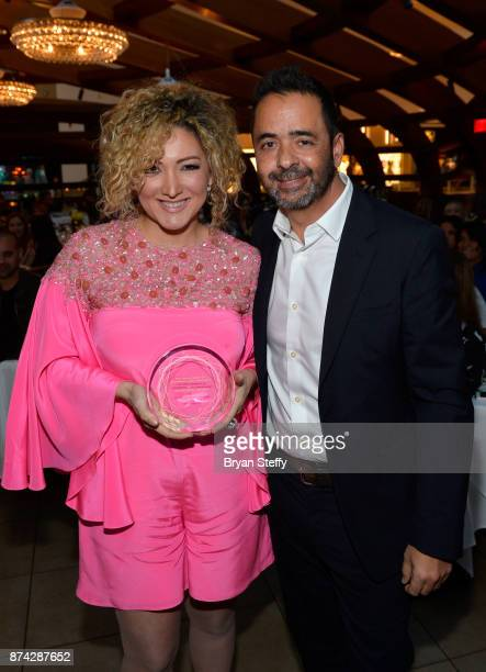 Erika Ender and Jorge Mejia President of Latin America and US Latin at Sony/ATV Music Publishing attend the Leading Ladies Lunch during the 18th...