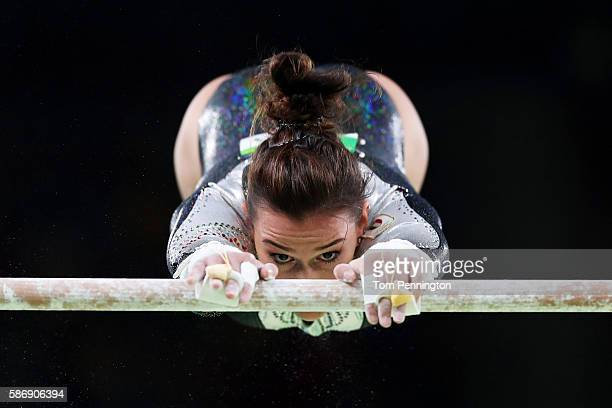 Erika Fasana of Italy competes on the uneven bars during Women's qualification for Artistic Gymnastics on Day 2 of the Rio 2016 Olympic Games at the...